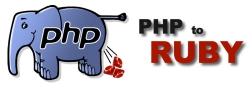 PHP to Ruby Logo